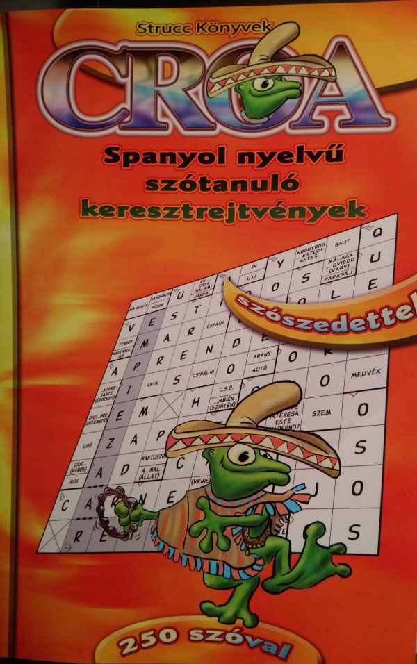 Croa spanyol szótanuló keresztrejtvény füzet 250 szóval
